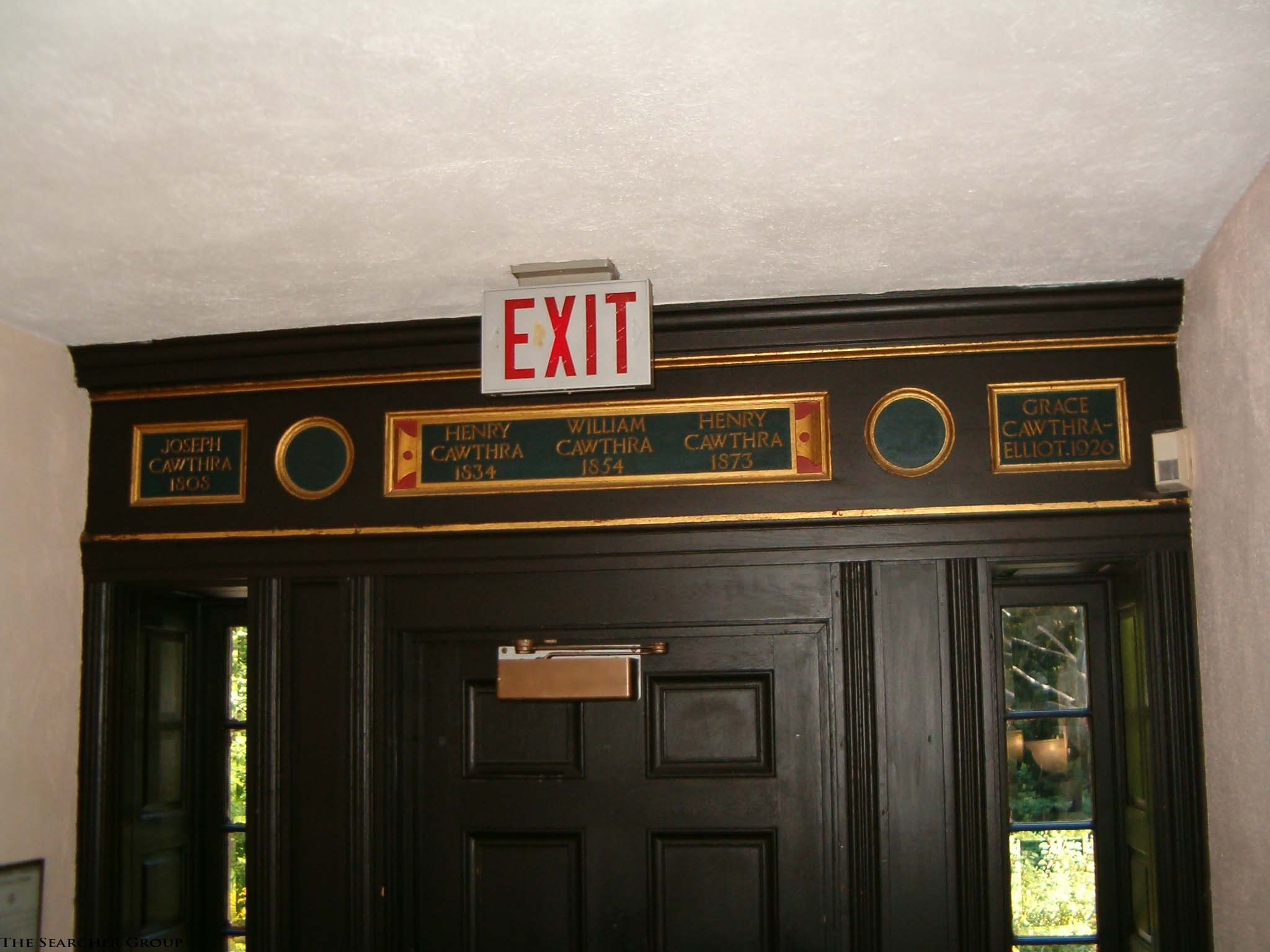 Doorway at the Cawthra house