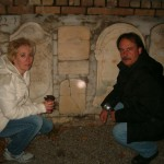 Richard and Michelle at the tombstones