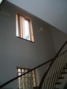 Second floor window in Fusion stairway
