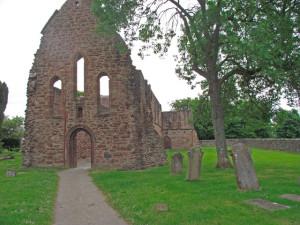 Brick ruins in cemetery