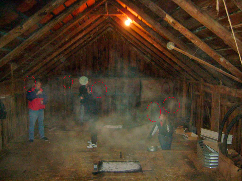 Photo of Peter, Richard, James and Victoria in the Farm Loft