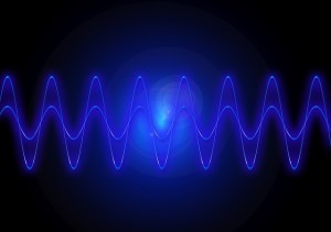 Blue Frequency lines